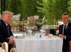 France: Trump, Macron speak in meeting ahead of G7 summit