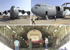 Watch: IAF C-17 ferries empty oxygen tanker to Madhya Pradesh's Jamnagar