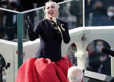 Lady Gaga sings US national anthem at Joe Biden inauguration ceremony