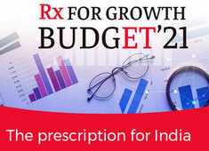 Budget 2021 coverage on The Economic Times website and App