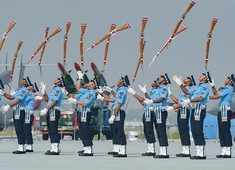 Indian Air Force Day: Air Warrior Drill Team displays exemplary rifle handling skills