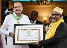 Moroni: VP Venkaiah Naidu conferred with highest Civilian Honour of Comoros