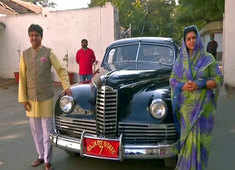 Gujarat Local Elections 2021: Rajkot royal family makes grand entry in a vintage car at polling booth