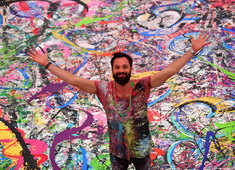 Brit artist hopes world's largest art canvas sparks humanitarian movement