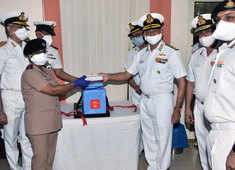 COVID vaccine: Indian Navy officers receive their first shots in Visakhapatnam