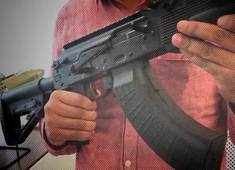 Catch a glimpse of the AK203 which will replace INSAS rifles in Indian army