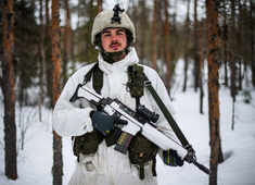 Sweden's snowy forests provide setting for Arctic warfare training