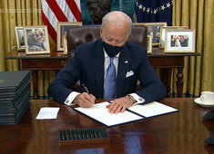 President Joe Biden reverses Trump policies on climate change, coronavirus