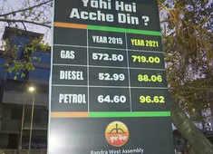 Fuel price hike:  Shiv Sena puts up 'Yahi hai acche din?' banners at petrol pumps in Mumbai