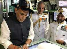 Indian Navy, Coast Guard always on alert: Rajnath Singh says, onboard INS Vikramaditya
