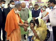 Lucknow: UP CM Yogi Adityanath launches Japanese Encephalitis vaccination drive