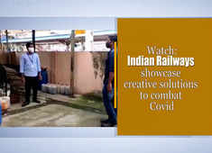 Watch: Indian Railways showcase creative solutions to combat Covid
