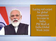 Laying red carpet for global companies to come in India: PM Modi at India Global Week 2020