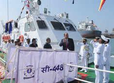 Watch: Indian Coast Guard commissions interceptor boat at Surat's Hazira Port