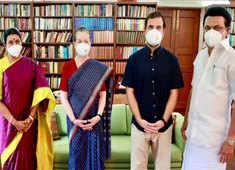 Watch: Tamil Nadu CM MK Stalin meets Sonia, Rahul Gandhi