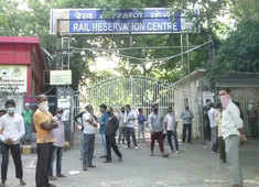 Watch: People gather outside 'Rail Reservation Centre' in Delhi as ticket booking counters open