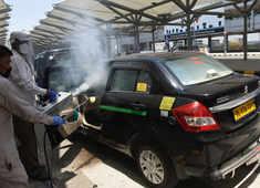 Delhi Airport sets up dedicated sanitisation area for cabs