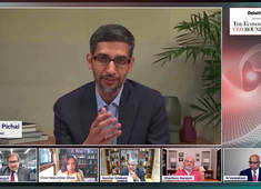 Sundar Pichai & Nandan Nilekani at ET CEO Roundtable