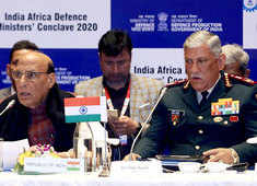 Rajnath Singh, CDS Gen Rawat attend first-ever India-Africa Defence Ministers' Conclave 2020