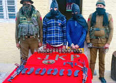 J-K: Terror module busted in Ramban, huge cache of arms and ammunition recovered