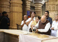 Watch: Amit Shah offers prayers at Somnath Temple in Gujarat