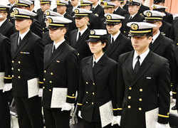 First woman enters Japan's submarine academy