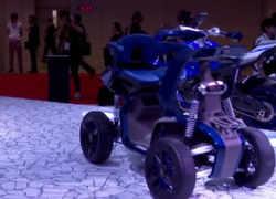 Watch: Yamaha exhibits electric and three-wheeled bikes