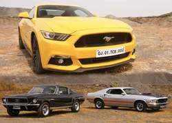 Autocar show: Ford Mustang 1968 Bullitt, 1969 Mach 1 meet 2018 GT