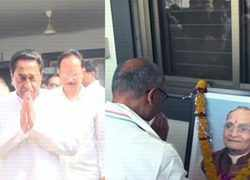Madhya Pradesh: CM Kamal Nath, Digvijaya Singh pay tributes to Shivraj Singh's father