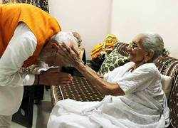 PM Modi meets his mother on his 69th birthday