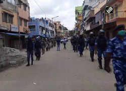 Watch: RAF conducts flag-march within DJ Halli police station in Bengaluru
