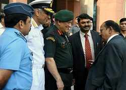 Watch: NSA Doval having candid conversation with Defence Forces' Chiefs