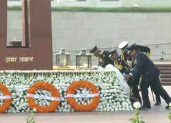 Army Day: CDS Gen Bipin Rawat, three Service Chiefs pay tribute at National War Memorial
