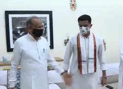 Rajasthan: Sachin Pilot meets Ashok Gehlot at his residence ahead of CLP meeting