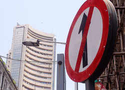 Sensex falls 80 pts, Nifty tests 12,150; Adani Group stocks tank up to 9%