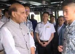 Rajnath Singh visits Sembawang Air Base in Singapore