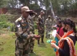 Watch: BSF soldiers celebrate Rakshabandhan with locals in Jammu