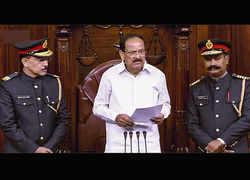 Venkaiah Naidu orders review of the new military-style uniform of Rajya Sabha marshals