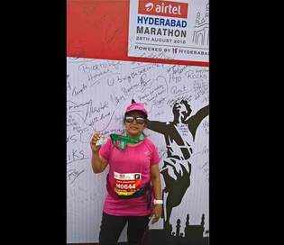 CEO on top of the world:RamaVedashree aced the Great Wall of China marathon!