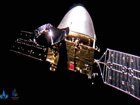 China's Mars craft enters parking orbit before landing rover