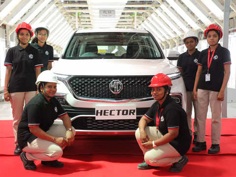 MG Motor India rolls out 50,000th Hector with an all-women crew