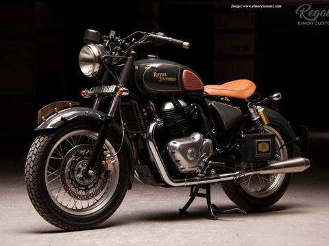 The Regale is a Royal Enfield Interceptor 650 that has been turned into a vintage bobber