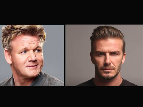 The ultimate cook-off between David Beckham and Gordon Ramsay