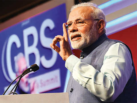 In Modi's 45-min GBS speech, a word of caution for India's bankers