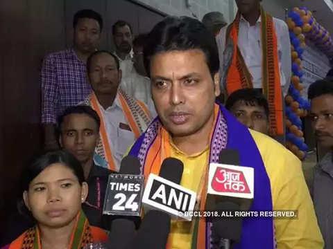 Tripura CM Biplab Deb seeks removal of special permission to enter India through Tripura from Bangladesh