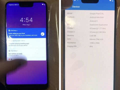 Google Pixel 3 XL leak: Phone may sport notch display, come with wired USB-C buds