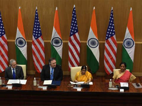 India & US sign COMCASA, Pompeo says no decision on S400