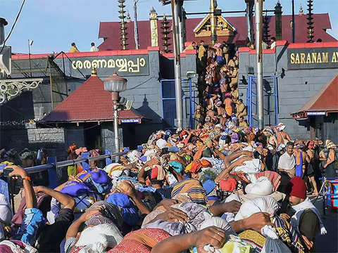 Woman, 52, allowed inside Sabarimala temple after initial protests