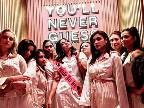 Last leg of the bachelorette: Priyanka Chopra hosts pyjama party with Isha Ambani, cousin Parineeti