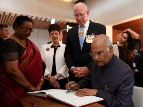 Ram Nath Kovind invites diaspora in Australia to invest in India